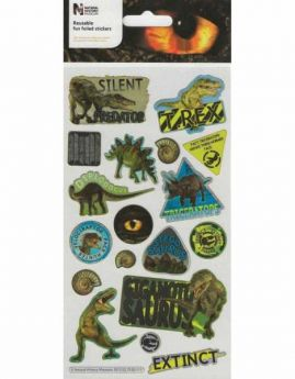 Natural History Museum Dinosaurs Large Foiled Sticker Pack
