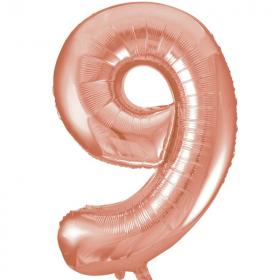 Rose Gold Number 9 Foil Balloon
