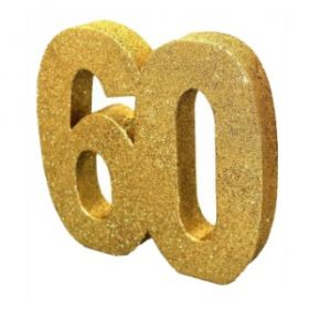 Age 60 Gold Glitter Table Decoration