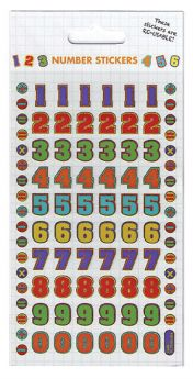 Reusable Sparkle Stickers - Colourful Numbers