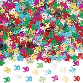 30th Birthday Multi-coloured Metallic Confetti