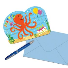 Ocean Buddies Postcard Invitations pk8