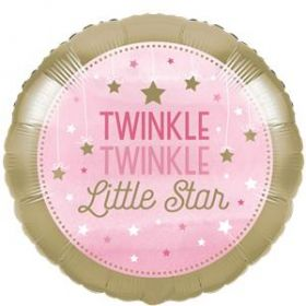 One Little Star - Girl Metallic Foil Balloon 18''