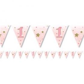 One Little Star - Girl Paper Flag Bunting 4m