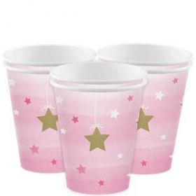 One Little Star - Girl Paper cups pk8