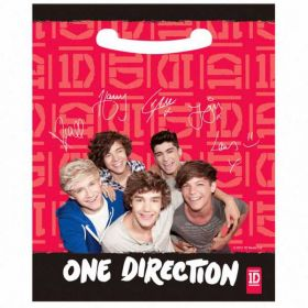 One Direction Plastic Party Loot Bags 8pk