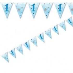 One Little Star - Boy Paper Flag Bunting 4m