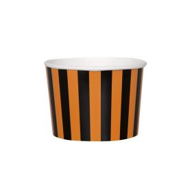 Orange & Black Striped Treat Tubs 256ml, pk8