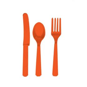 Orange Cutlery Set for 8
