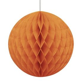 Orange Honeycomb Ball Party Decoration 20cm