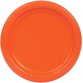 Orange Paper Plates 23cm, pk16