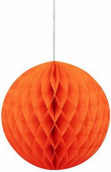 Honeycomb Orange Ball Party Decoration 8""