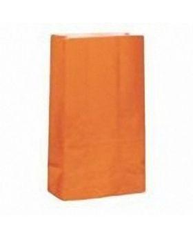 Orange Paper Party Bags 12pk