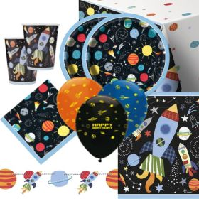 Outer Space Party Deluxe Party Pack for 16