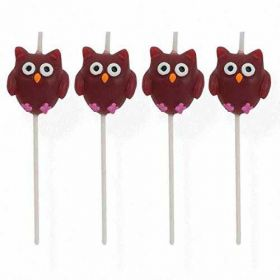 Owl Pal Cake Candles, pk4