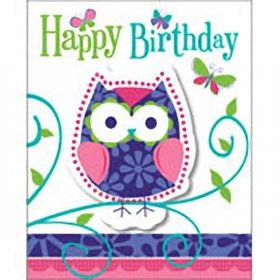 Owl Pal Birthday Invitations pk8