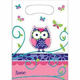 Owl Pal Birthday Party Bags pk8