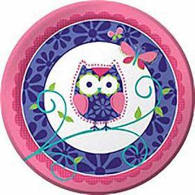 Owl Pal Birthday Paper Plates pk8
