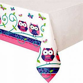 Owl Pal Birthday Tablecover