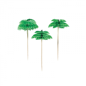 Palm Tree Honeycomb Picks, pk12
