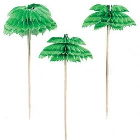 Palm Tree Honeycomb Picks, pk12