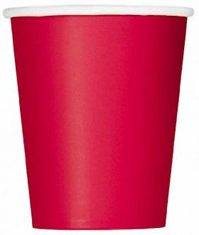 Ruby Red 9oz Party Paper Cups 14pk