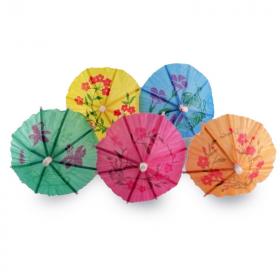 Paper Umbrella Food Picks, pk10