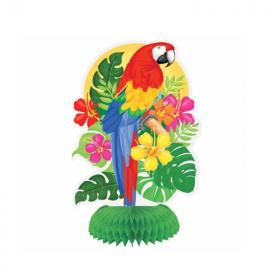 Honeycomb Parrot Decorations, pk3