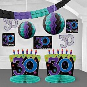 30th Birthday Room Decorating Kit