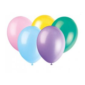 "Pastel Assorted Balloons 12"", pk10"