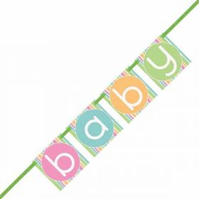 Pastel Baby Shower Block Banner