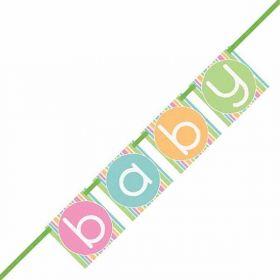 Pastel Baby Shower Block Banner