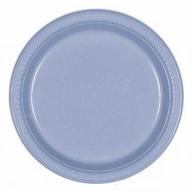 Pastel  Blue Plastic Plates 23cm, 20pk