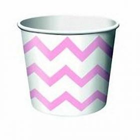 Chevron Stripe Pastel Pink Treat Tubs pk6