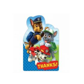 Paw Patrol Party Thank Cards