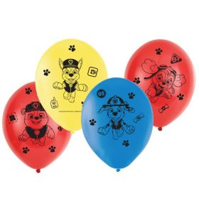 "Paw Patrol Latex Balloons 11"", pk6"