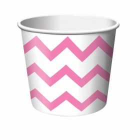 Chevron Stripe Treat Cups Candy Pink