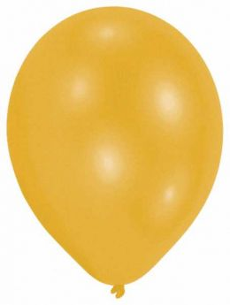 Pearl Gold Latex Party Balloons - 22cm 10pk