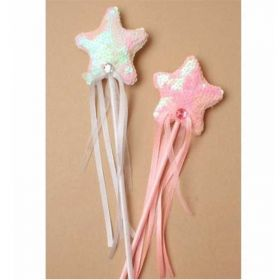 Pearlised Sequin Star Wand