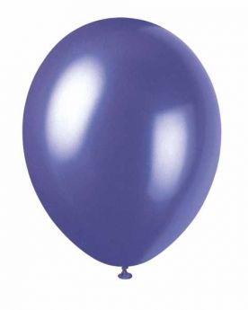 Pearlised Electric Purple Latex Balloons pk8