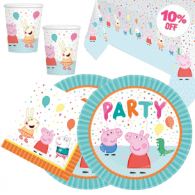 Peppa Pig Party Tableware Pack for 16