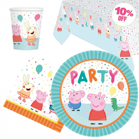 Peppa Pig Party Tableware Pack for 8