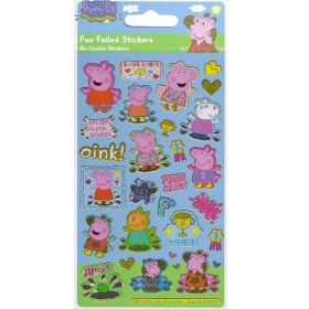 Peppa Pig Golden Boots Foil Stickers