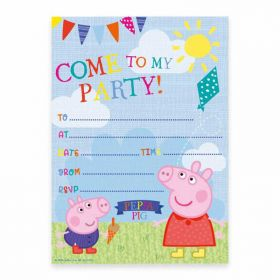Peppa Pig Paper Party Invitations, pk20