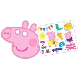 Peppa Pig Mask & Stickers, pk6