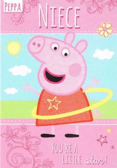 Peppa Pig Niece Birthday Card