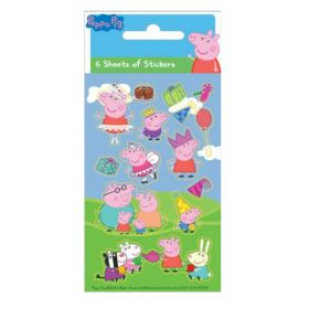 Peppa Pig Party Bag Stickers, pk6