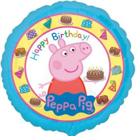 Peppa Pig Happy Birthday Foil Balloon 18''