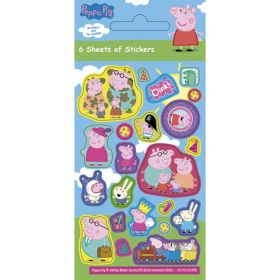 Peppa Pig Party Stickers pk6