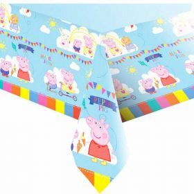 Peppa Pig Party Tablecover, plastic 138 x 183 cms